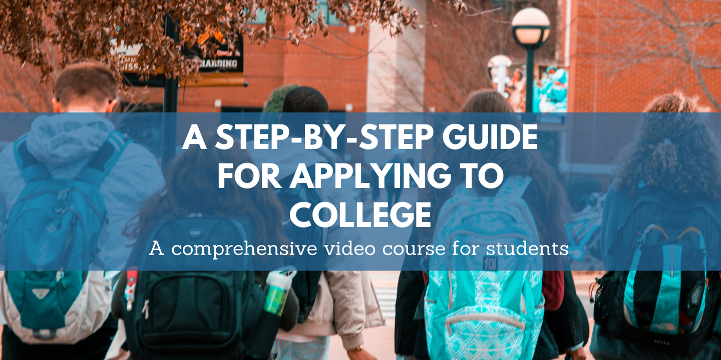 register for Guide for Applying to College Moon prep online course