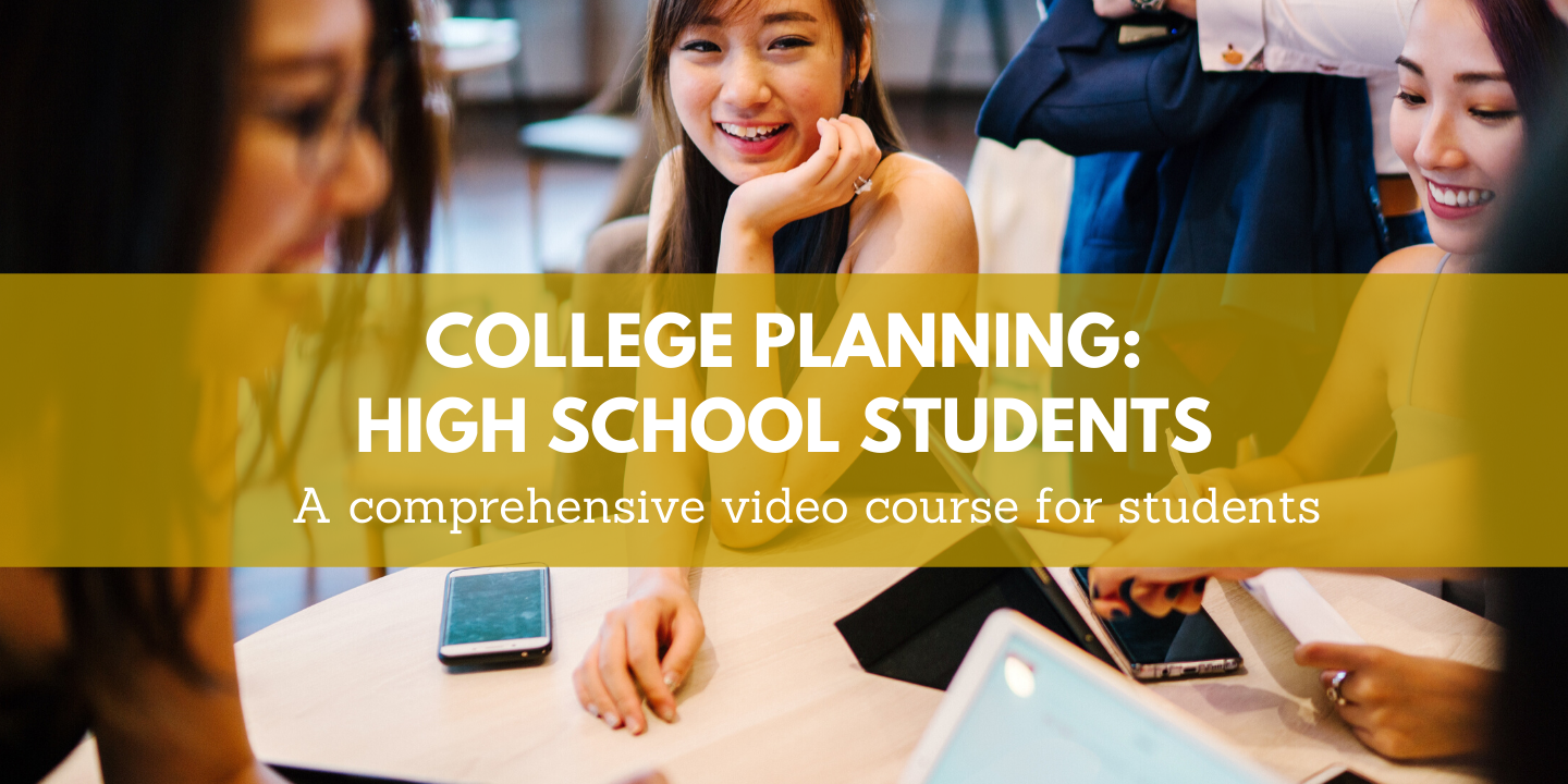 register for College Planning: High School Students Moon Prep online course