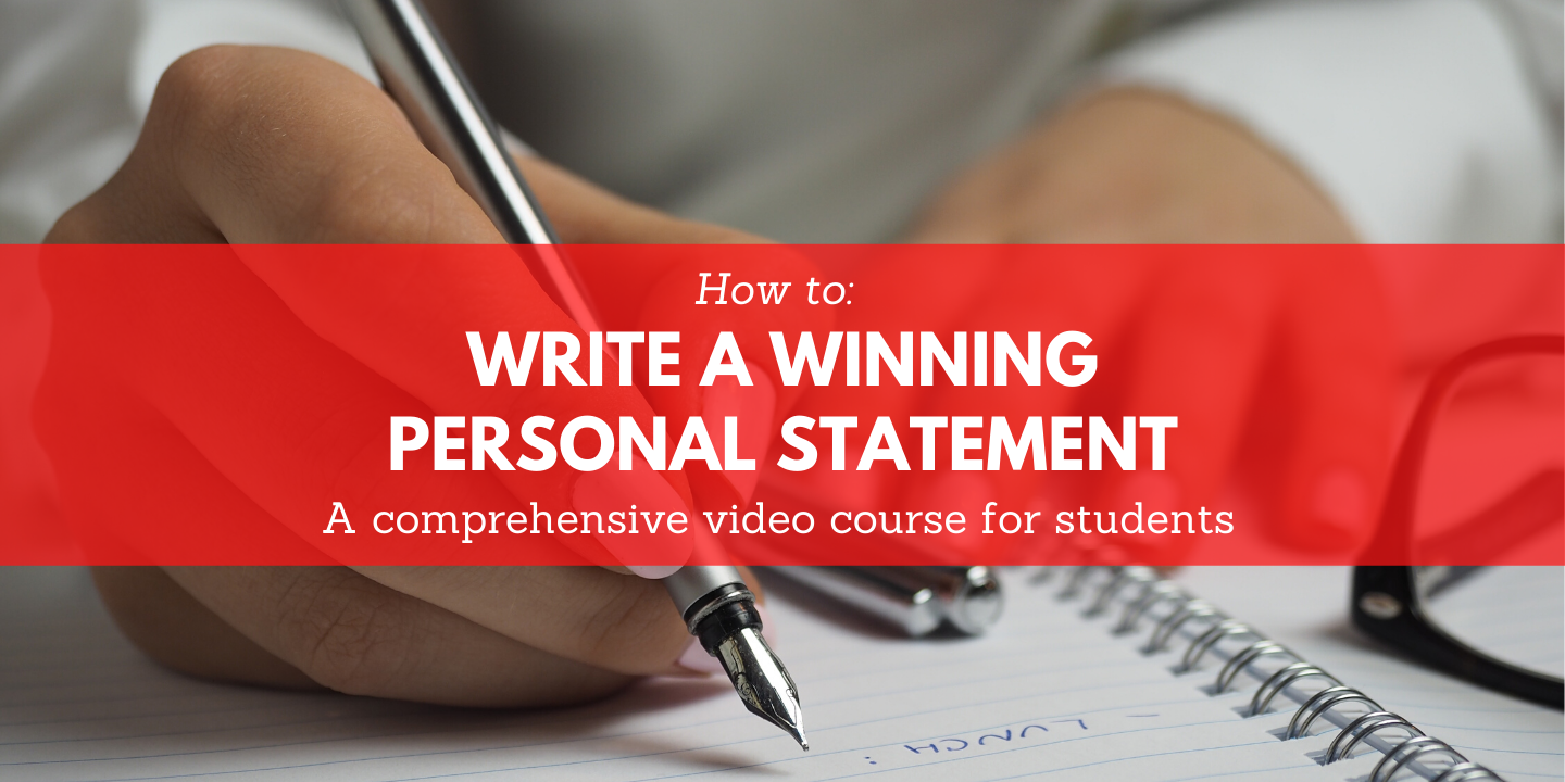 register for How To Write A Winning Personal Statement Moon Prep online course