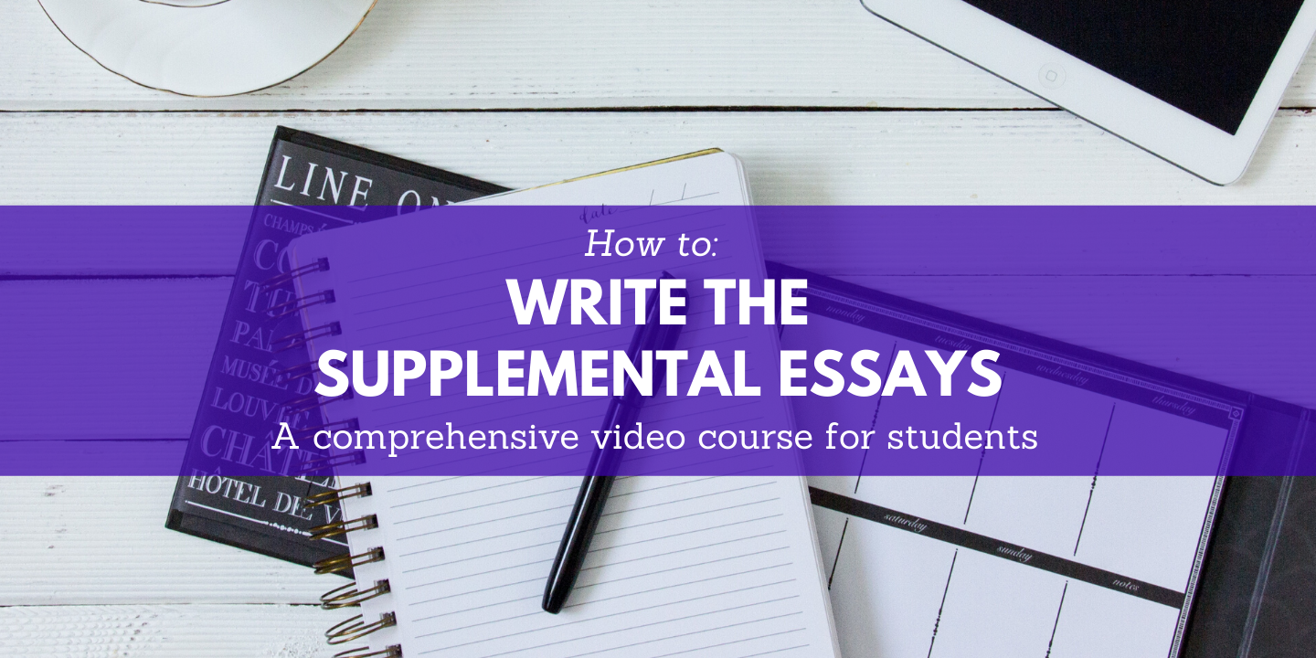 register for supplemental essays Moon Prep online course