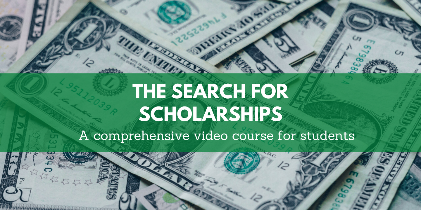 register for The search for scholarships Moon Prep online course