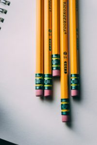 Pencils needed for taking the SAT or ACT Test